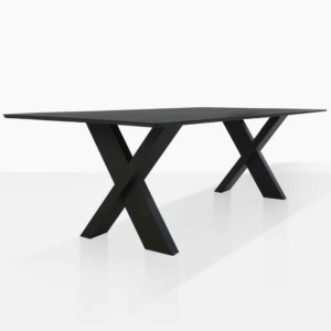 Illusion black outdoor dining table
