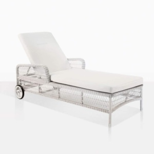 Kennedy outdoor wicker sun lounger chalk