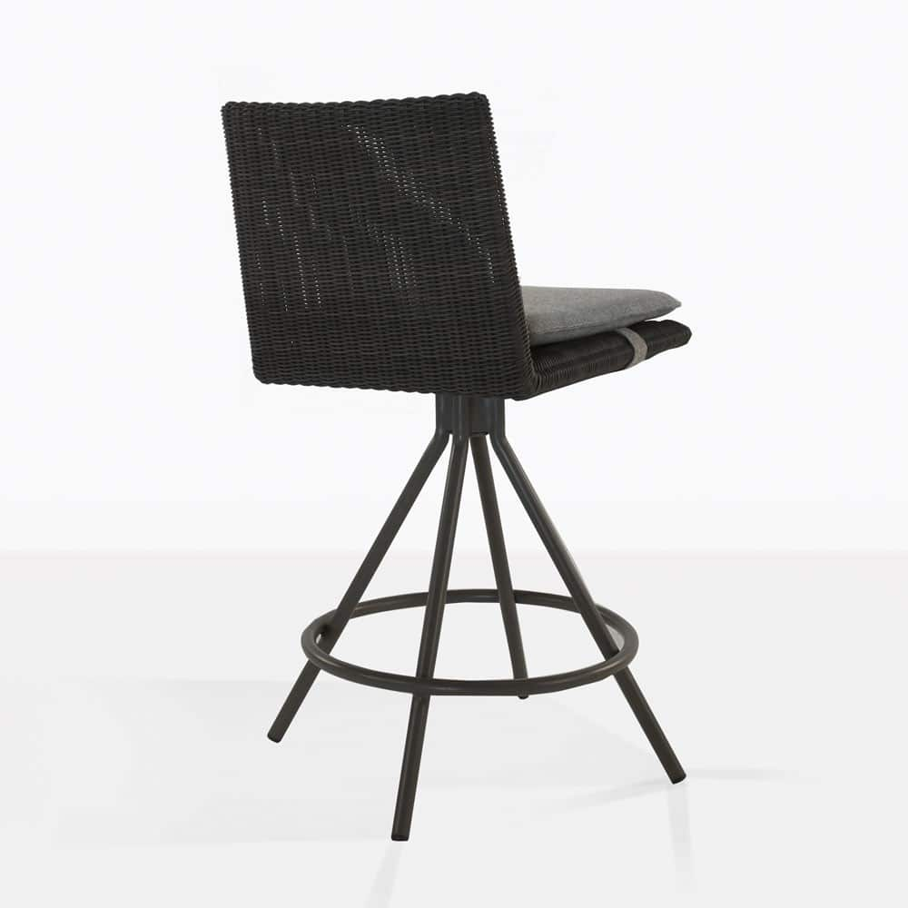 loop counter height stool in charcoal rear view