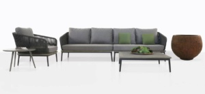 oasis outdoor rope furniture collection with grey color cushions