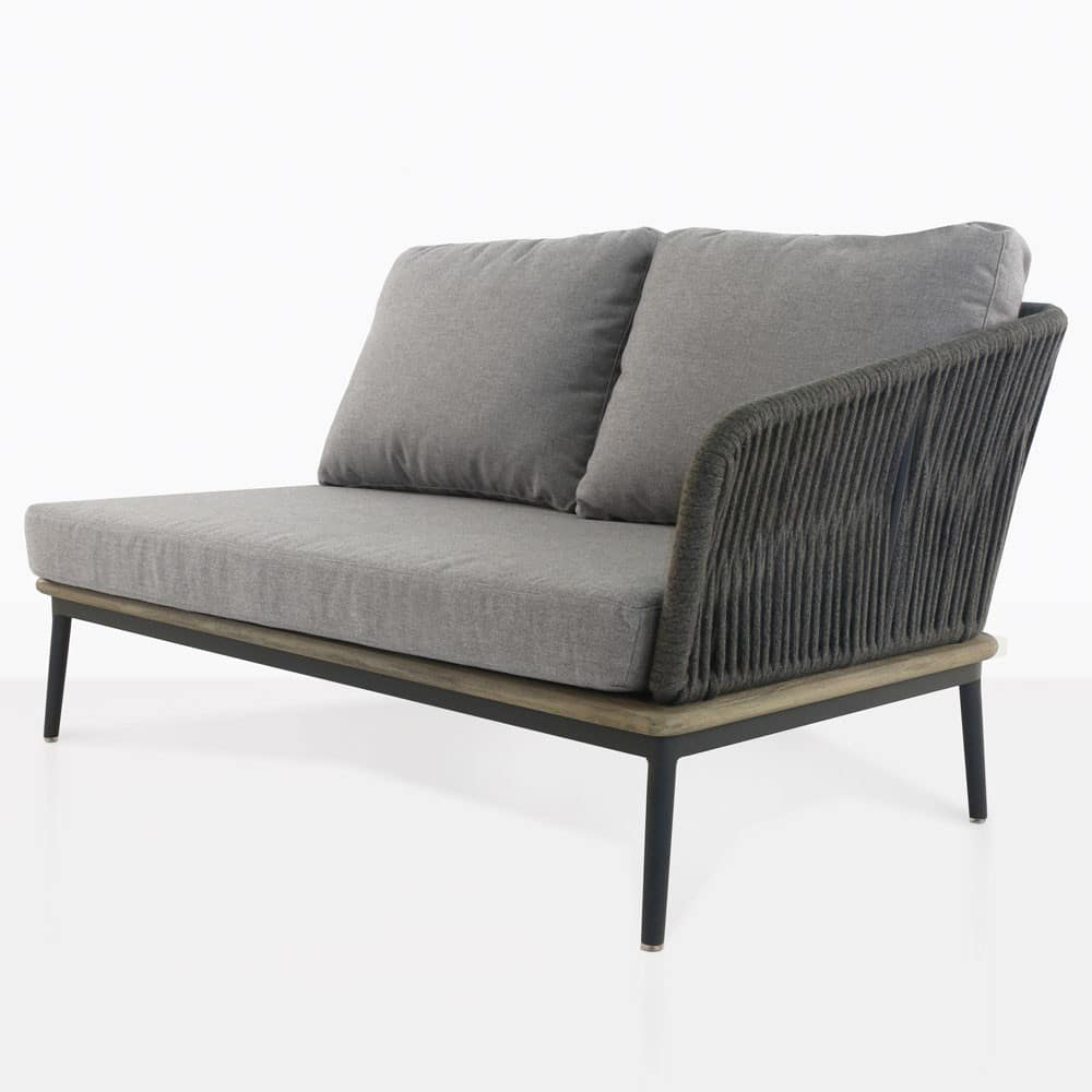 Oasis Outdoor Sectional Left Arm Loveseat Fog Design Warehouse Nz