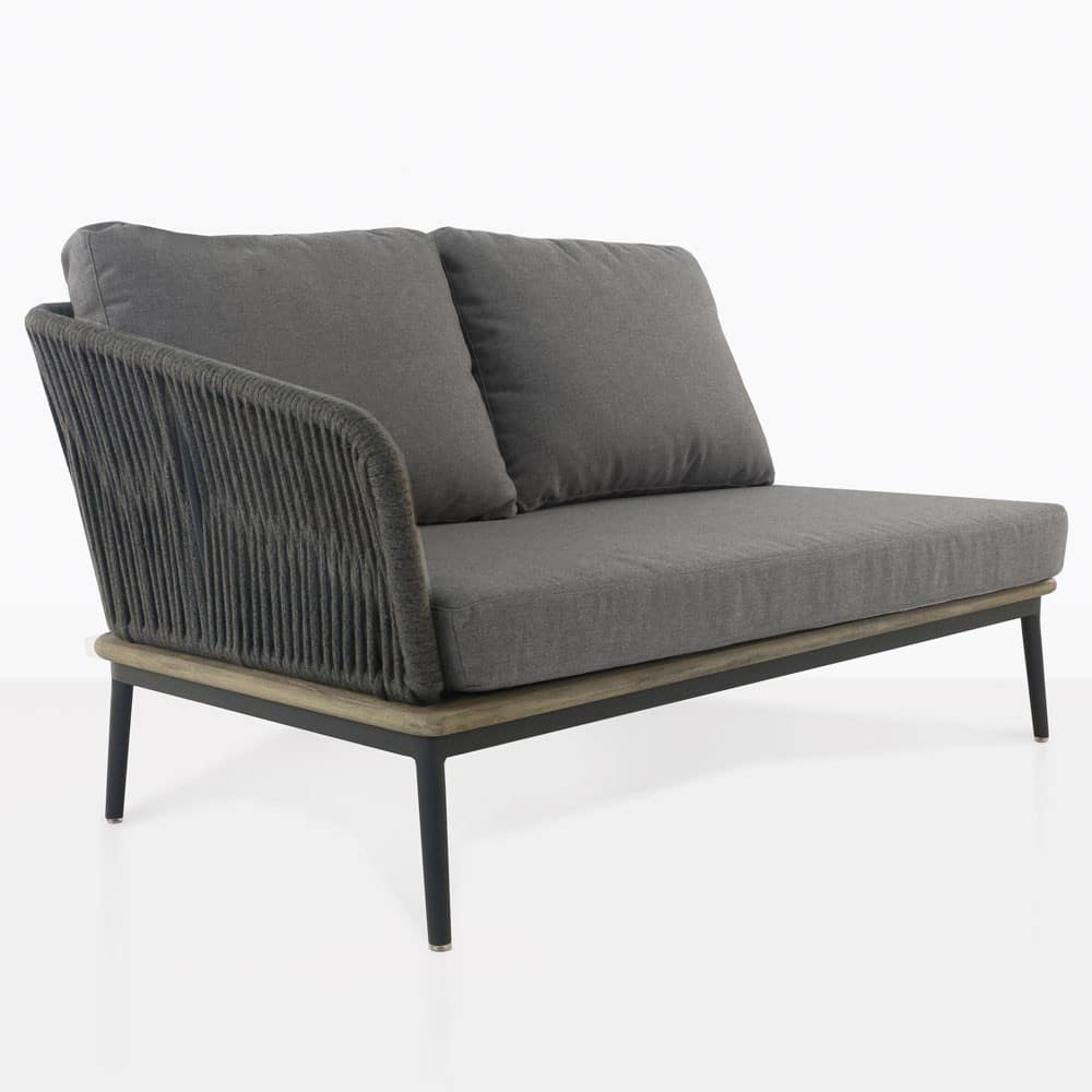 Oasis outdoor sectional right loveseat coal design for C furniture warehouse nz