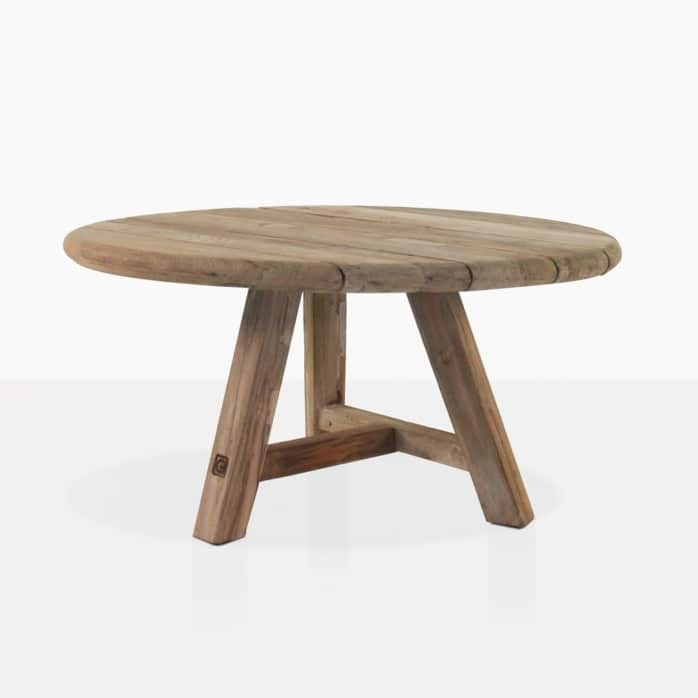 oslo reclaimed teak round side table