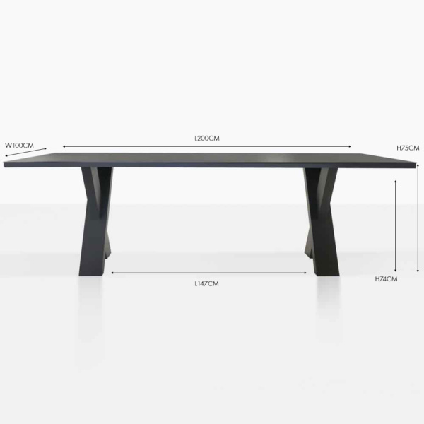 rudi outdoor dining table black