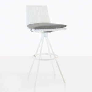 sammie bar height swivel chair in white