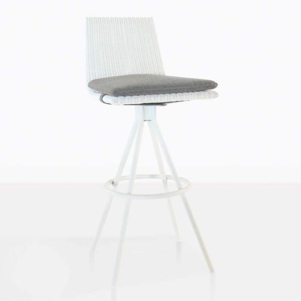 sammie bar height swivel chair in white