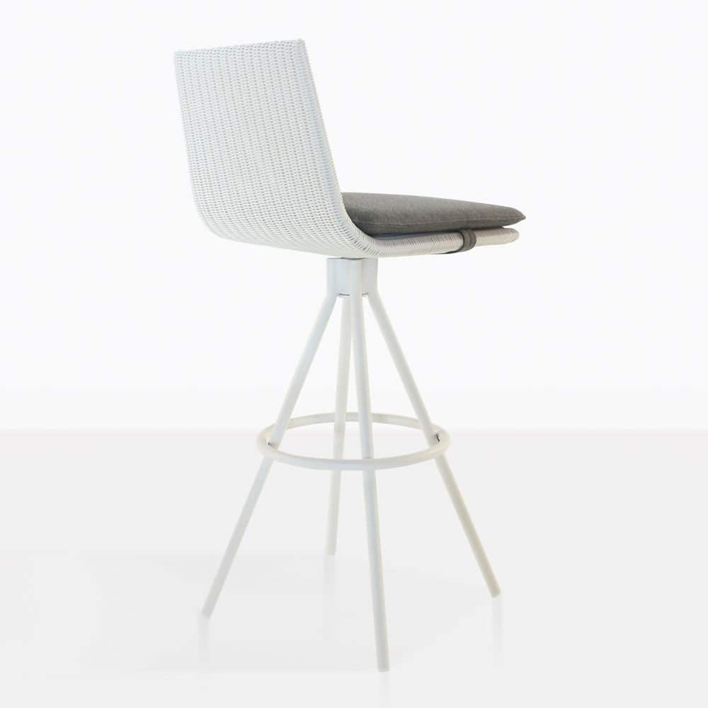 sammie bar height swivel chair in white angle view
