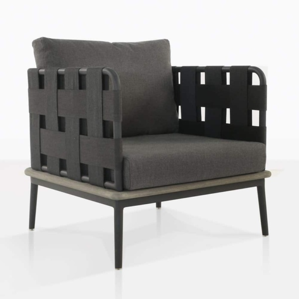 space club chair with blend coal color cushions
