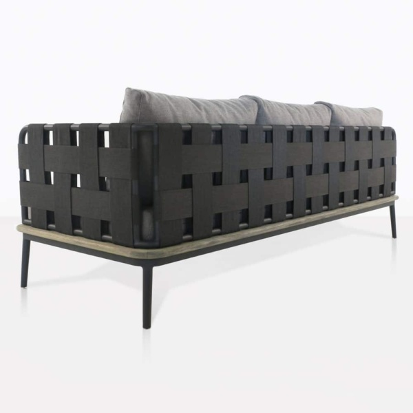 space left arm sofa with blend fog cushions rear view