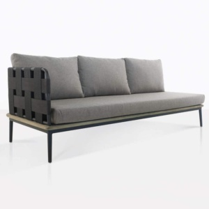 space right arm sofa with blend fog color cushions