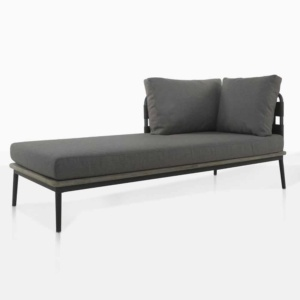 space right arm daybed with blend coal cushions