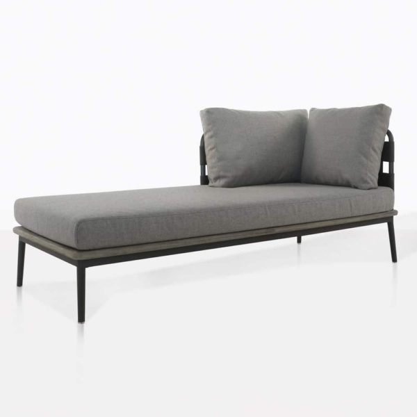 space right arm daybed with blend fog cushions