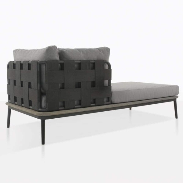 space right arm daybed with blend fog cushion color rear view