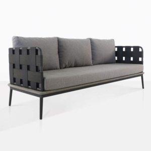 space sofa with blend fog color cushions