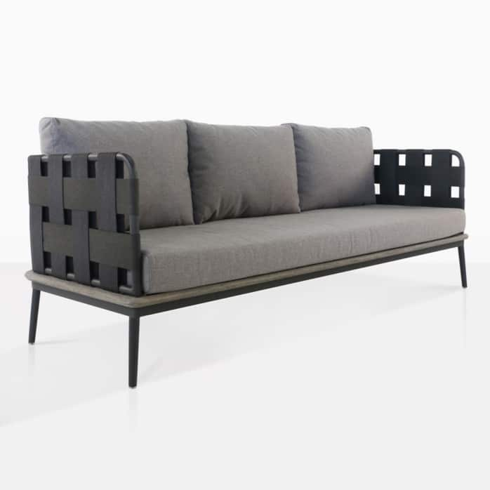 space - sofa with blend fog color cushions