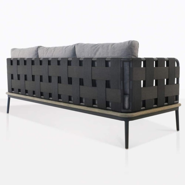 space - sofa with blend fog cushion color rear view