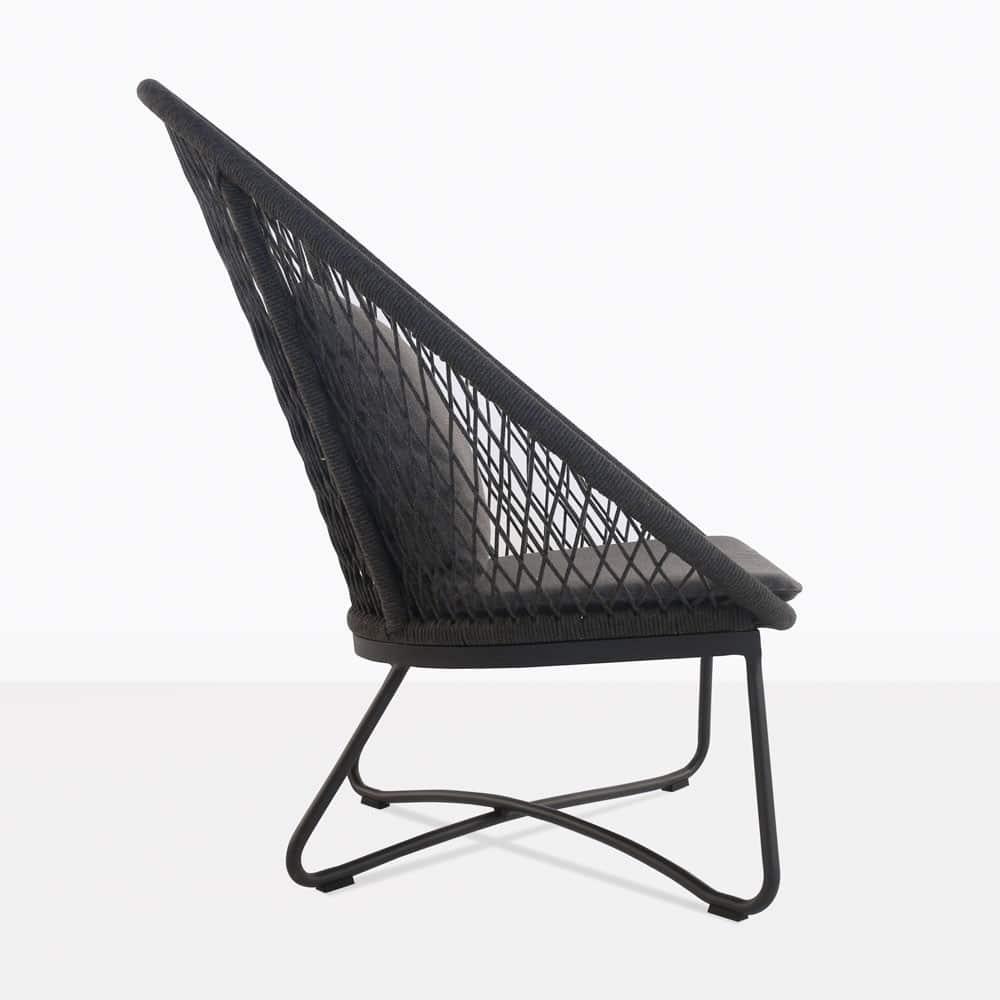 Zaha Outdoor Lounge Chair High Back Cross Weave Design