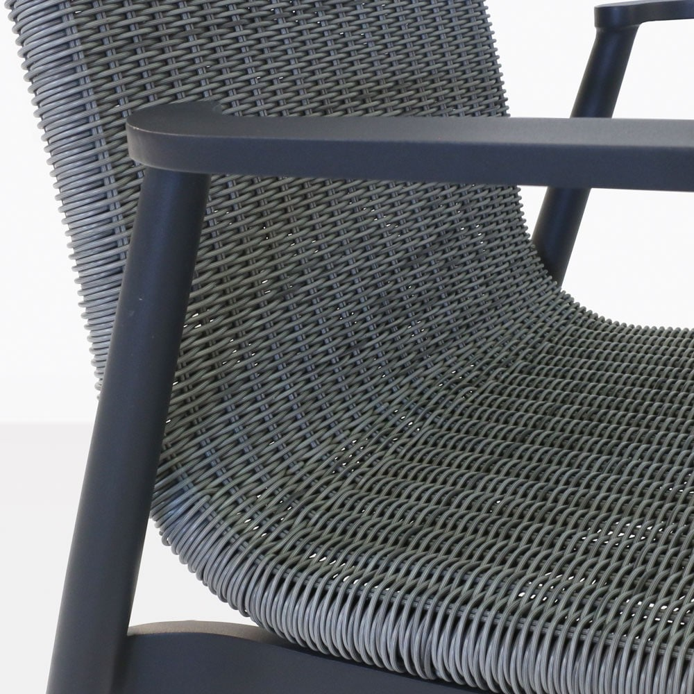 baltic outdoor dining chair close up view