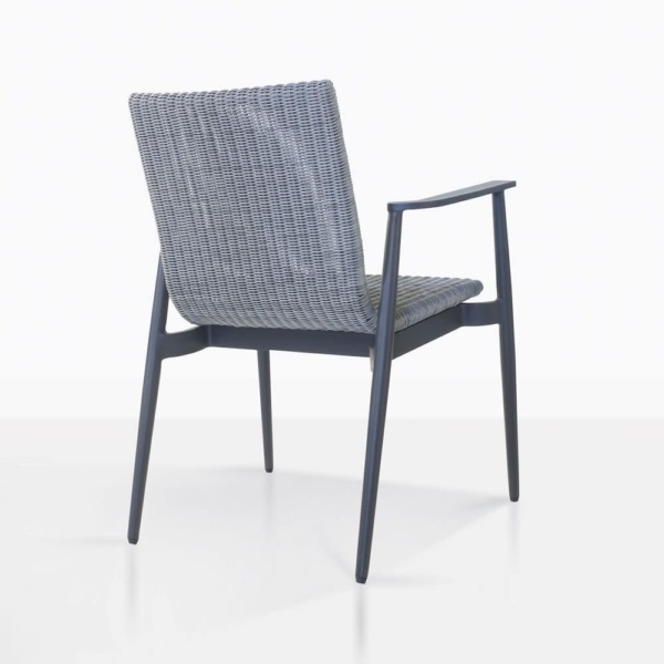 baltic outdoor dining chair rear view