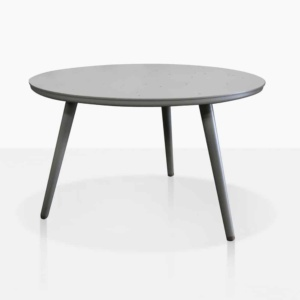 ida aluminum side table in grey