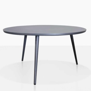 ida aluminium side table in charcoal