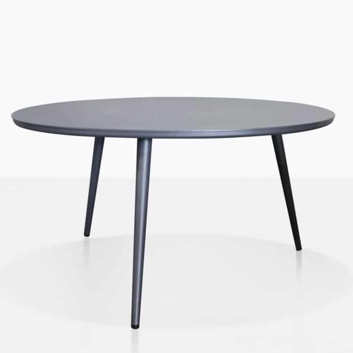 ida aluminum side table in charcoal