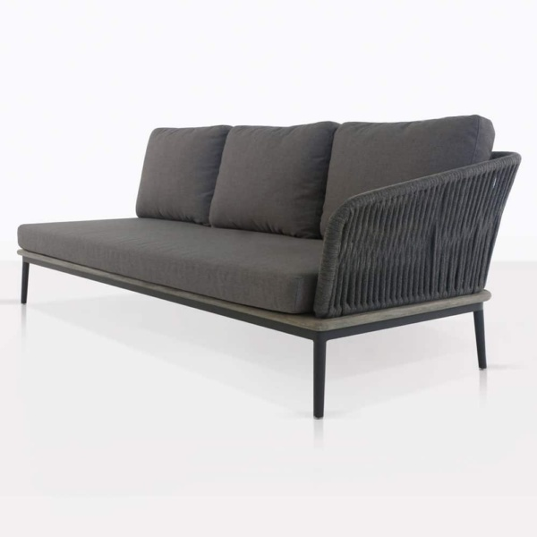 Oasis Sectional Sofa Left in Charcoal