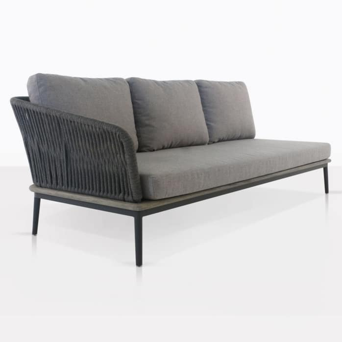 Oasis Right Arm Sectional Sofa With Cushions