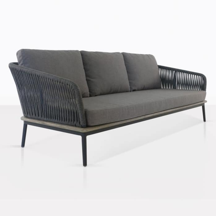 Oasis Rope and Aluminum Outdoor Sofa
