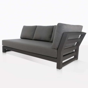 South Bay Aluminium in black - left sofa