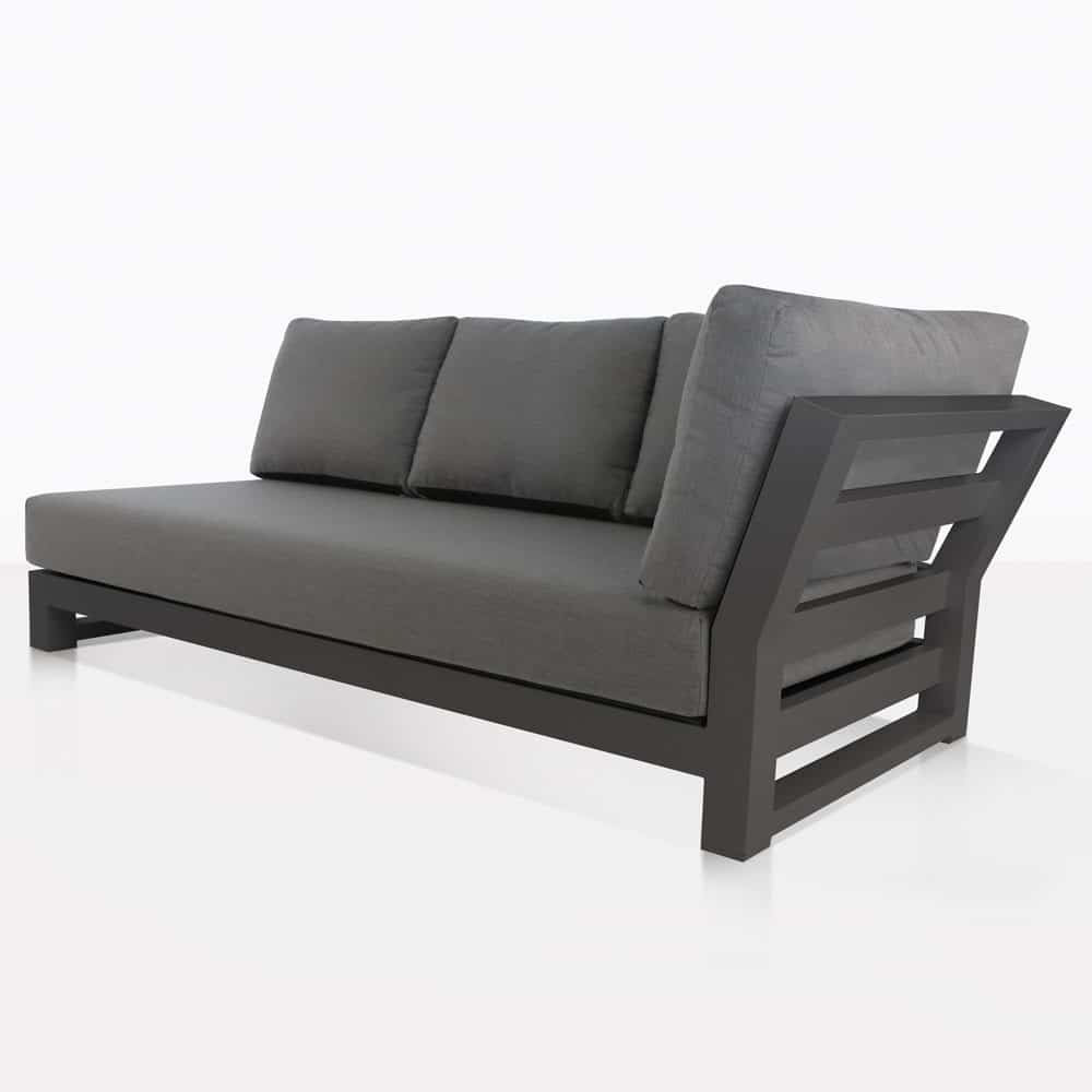 South Bay Outdoor Sectional Left Sofa (Dark Grey)
