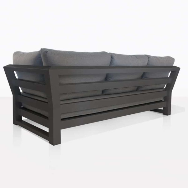 back side - South Bay Aluminium in black - sofa