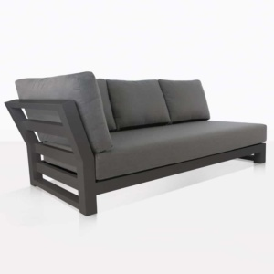 angle view - South Bay Aluminium in black - sofa