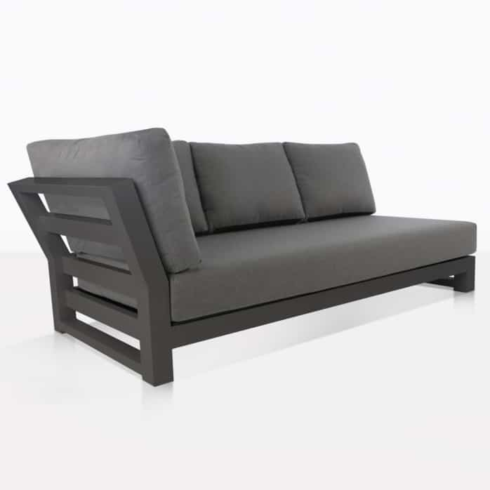 South Bay Outdoor Sectional Right Sofa (Dark Grey