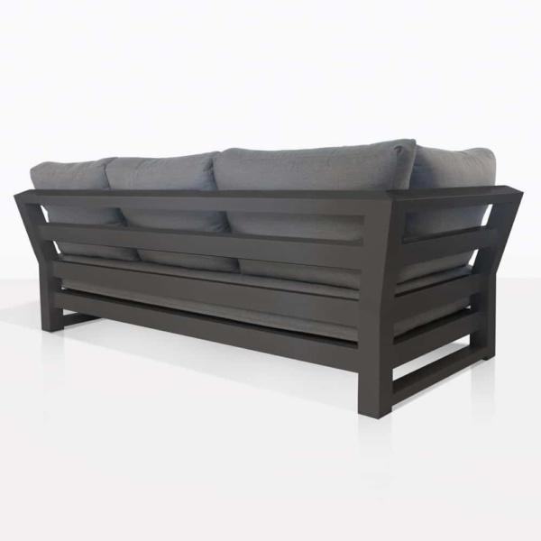 South Bay Aluminium in black - sofa rear