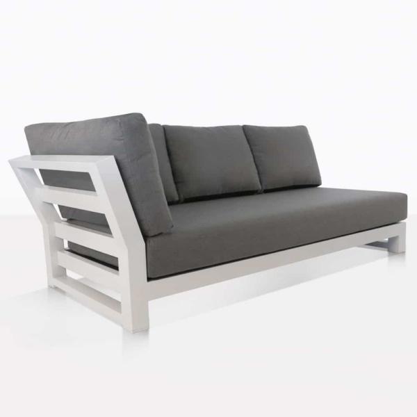 South Bay Aluminium - white angle sofa