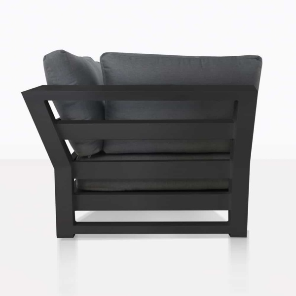 South Bay Aluminium in black - right side sofa