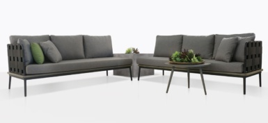 Space Outdoor Furniture Collection With Coal Cushions