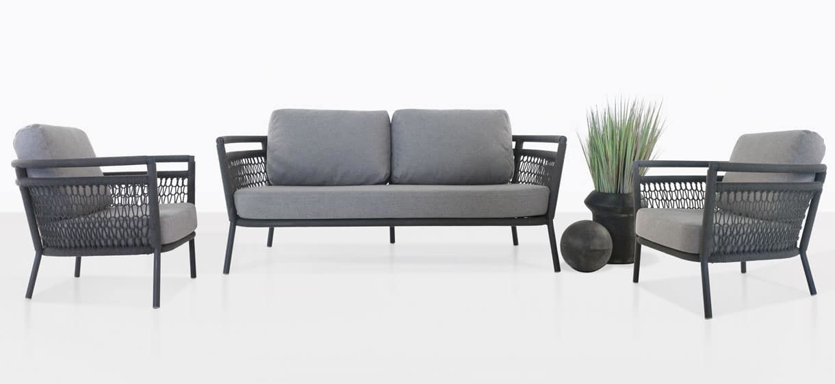 usso furniture collection with fog color cushions