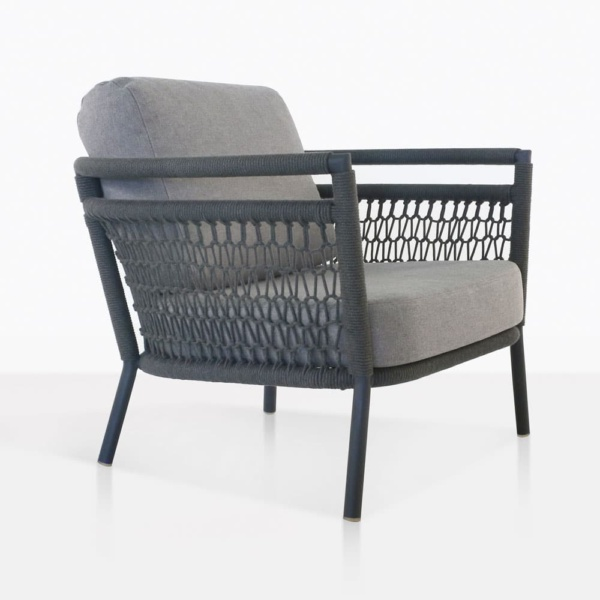 usso club chair with fog color cushions
