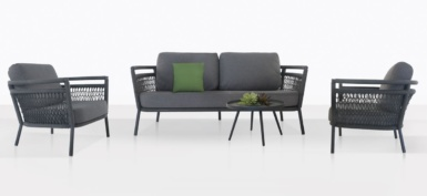 Usso Outdoor Furniture Collection With Coal Cushions
