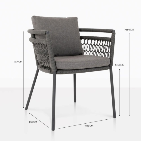 usso dining arm chair coal