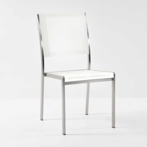 classic batyline white mesh outdoor chair