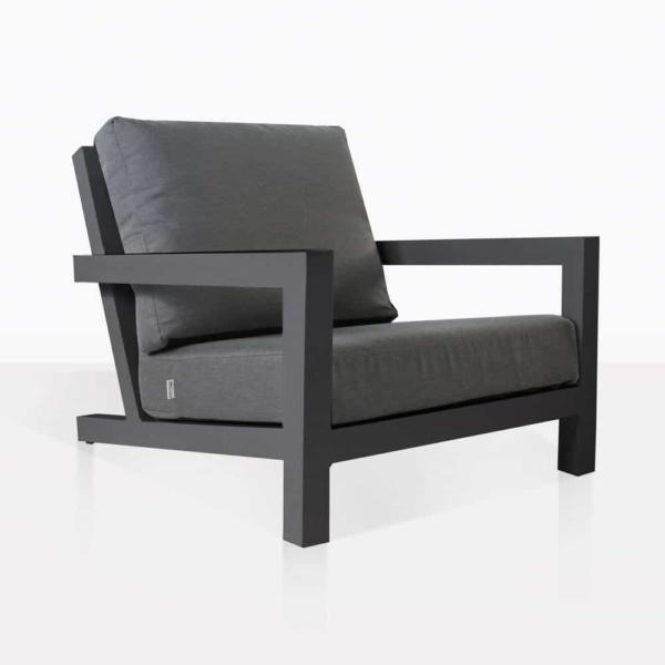 granada aluminum club chair charcoal