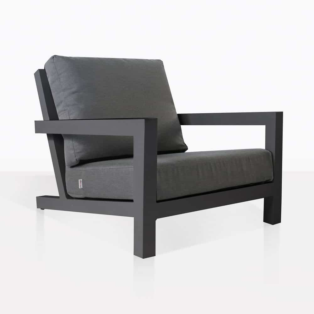granada aluminum club chair charcoal