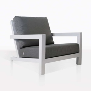 granada club chair in white