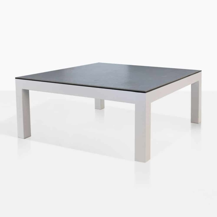 White Coffee Table Nz: Granada Aluminum Outdoor Coffee Table (White)