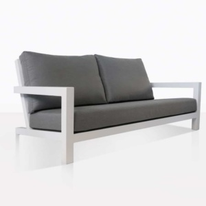 angle view granada white loveseat