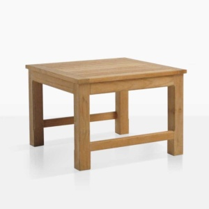 monterey teak outdoor small side table angle