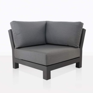South Bay Aluminium in black - corner angle chair